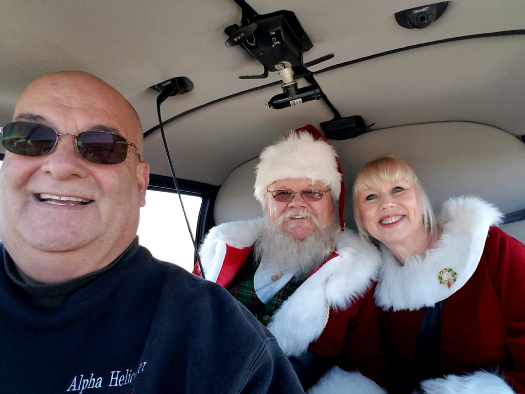 Alpha Helicopter Santa Claus holiday tour