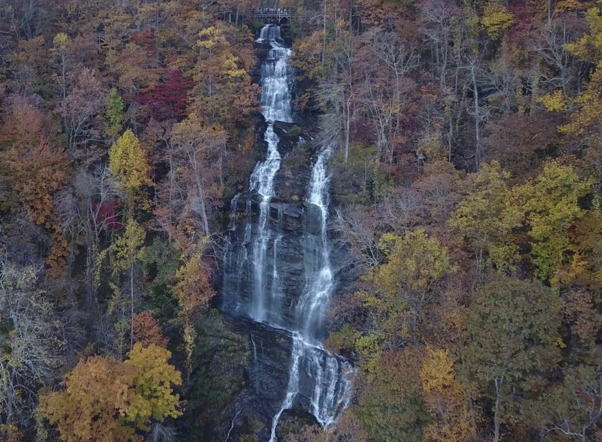 Amicalola Falls in the Autumn