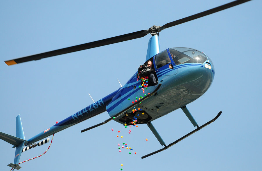 Helicopter Easter Egg Drop Event Tour