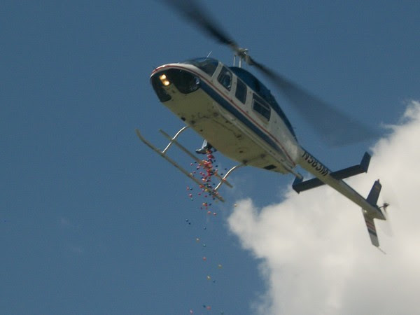 Helicopter Easter Egg Drop