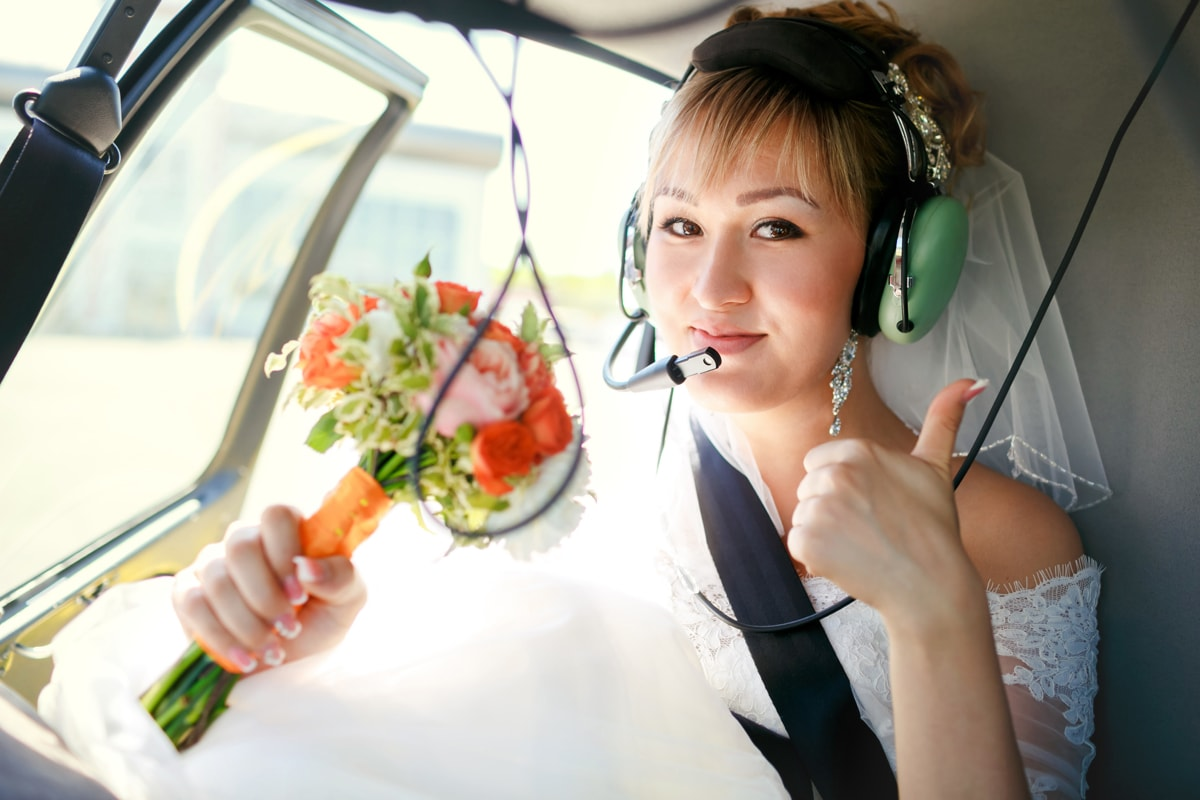 Helicopter Rides for Wedding in Ga