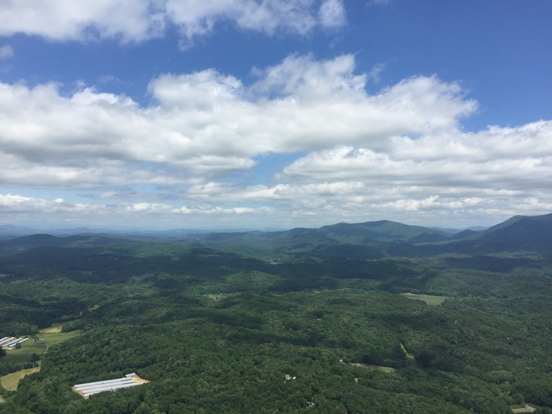 Tennesee USA from helicopter