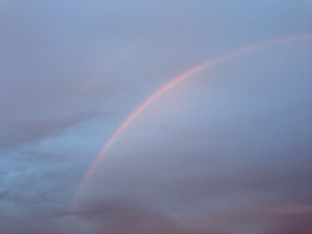 alpha helicopter rainbow in the air